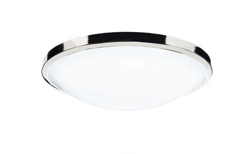 0.1) Dover LED Polished Chrome Flush IP44 Ceiling Light (Class 2 Double Insulated) BXDOV5250-17